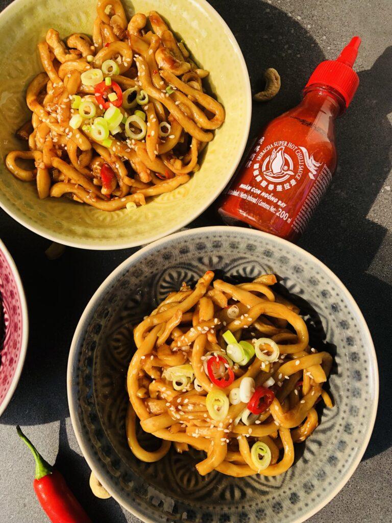 Spicy Udon Nudeln vegan