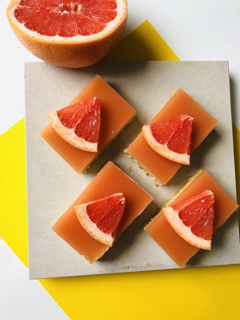 Pink Grapefruit-Vanilla Bars